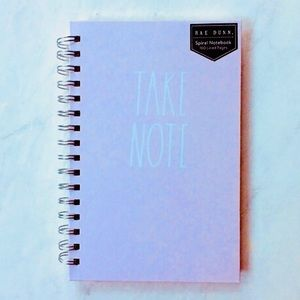 "Rae Dunn Spiral Notebook ""Take Note"" Pink / White"